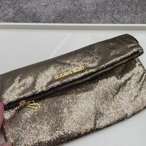 VS Gold Foldover Clutch